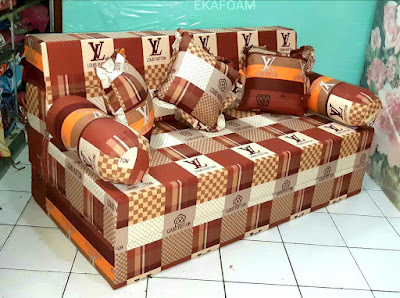 Sofa bed inoac motif new LV Coklat