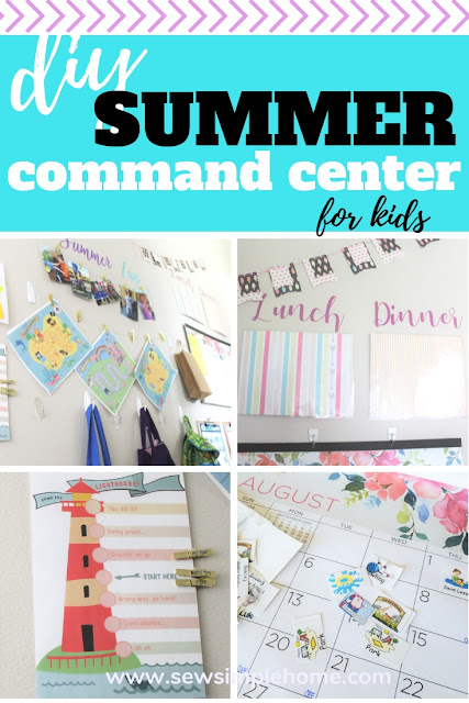 Get organized this summer with this easy DIY command center tutorial for families with kids.  With some free printables and project ideas