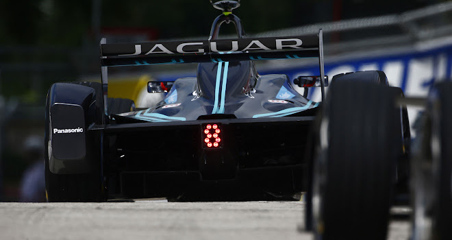Photo: Formula E Jaguar racing car