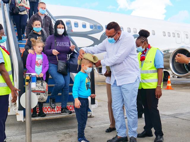 Ukrainian nationals welcomed by Najib Balala photo at JKIA