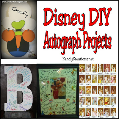 Collect and save your Disney Character Autographs in a fun way with these 10 DIY Autograph Projects by some of your favorite bloggers.