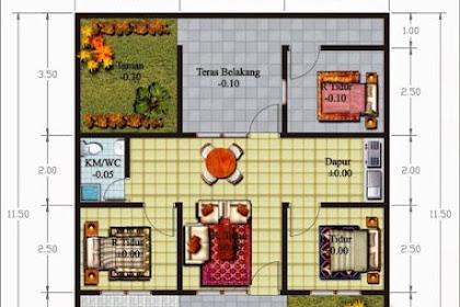 19 Denah Rumah Minimalis 1 Lantai 3 Kamar Tidur Yang Dilengkapi Garasi Mobil