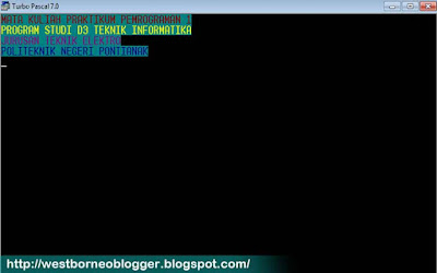 Tutorial Cara Membuat Warna Background di Turbo Pascal