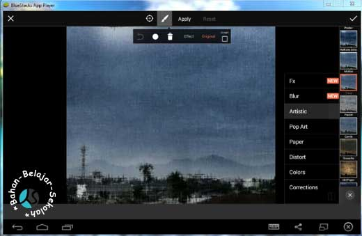 menjalankan PicArts di Bluestacks