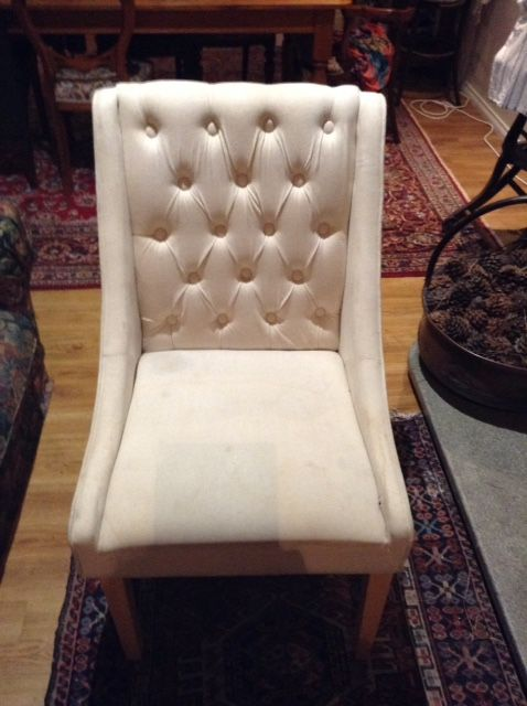 The beginning ,a stained rather nice but tatty chair for $15.00