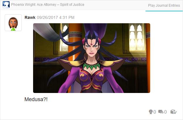 Phoenix Wright Ace Attorney Spirit of Justice Prosecutor Ga'ran Medusa