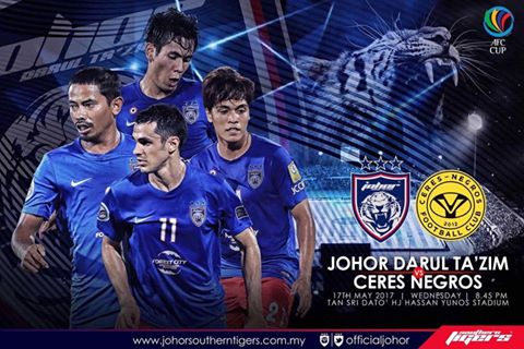 Live Streaming Keputusan JDT Vs Ceres Negros AFC Cup 17 Mei 2017