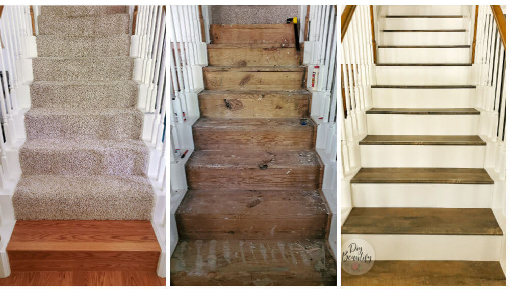 stairs before, during and after