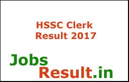 HSSC Clerk Result 2017