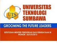 Lowongan Dosen Universitas Teknologi Sumbawa Tahun 2017