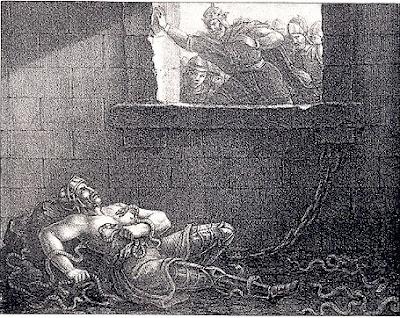 Ragnar Lodbrok Thrown in the Snake Pit