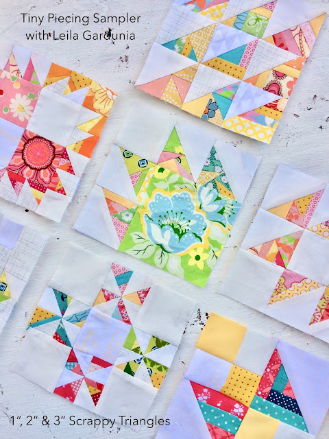 "Make 6"" or 12"" quilt blocks with these foundation paper pieced patterns - perfect for scrap busting or leftover fabric"