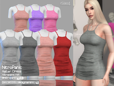 Halter Dress for The Sims 4