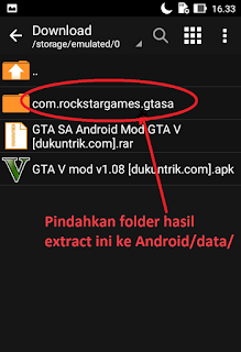 Download GTA SA Android MOD GTA V lengkap dengan cara install tanpa ROOT!!!
