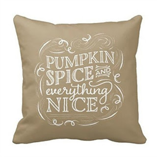 Pumpkin Spice Pillow Cover featured on Walking on Sunshine.