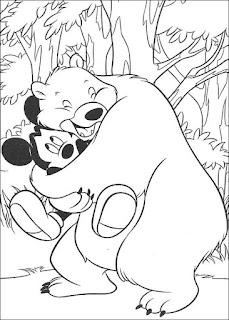 Ausmalbilder Mickey auf Safari zum Ausdrucken