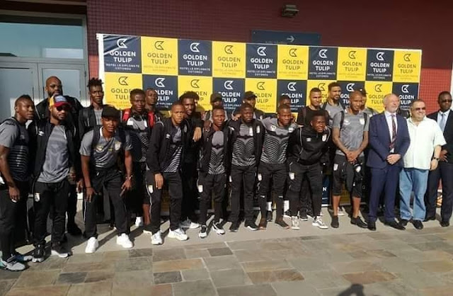 Squirrels Of Benin Arrives Nigeria Ahead Of AFCON 2021 Qualifiers (Photos)