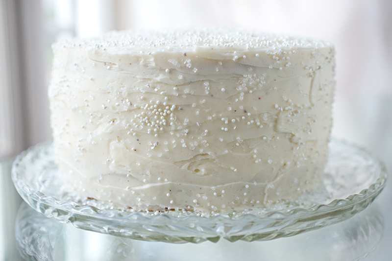 Winter Snow Flurry Cake