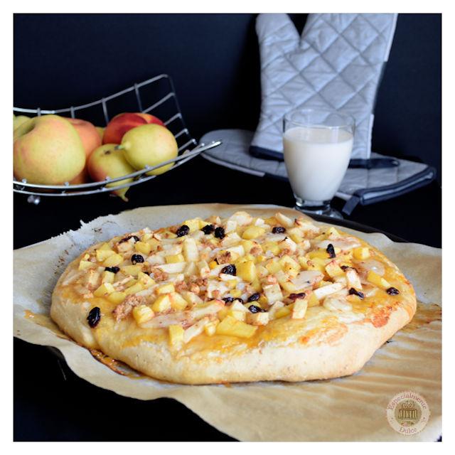 10 recetas de pizzas dulces para el postre: pizza de avena con frutas