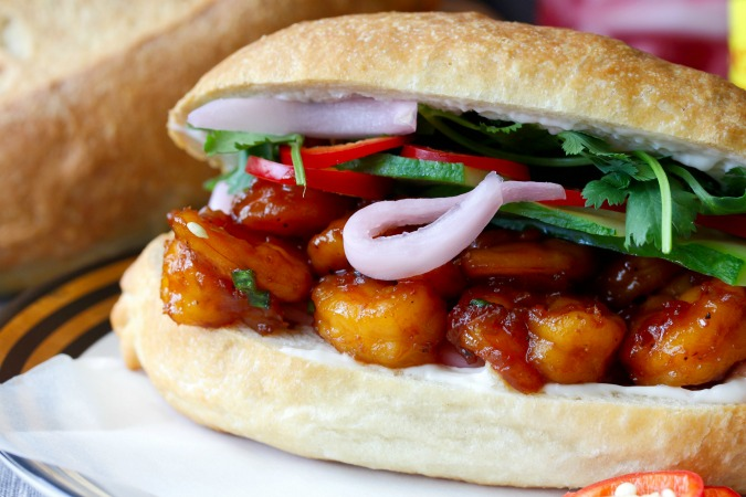 Caramel Shrimp Banh Mi