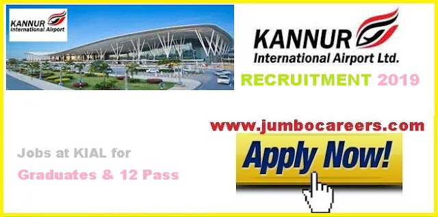 kannur airport jobs, kial jobs, kial free staff recruitment,