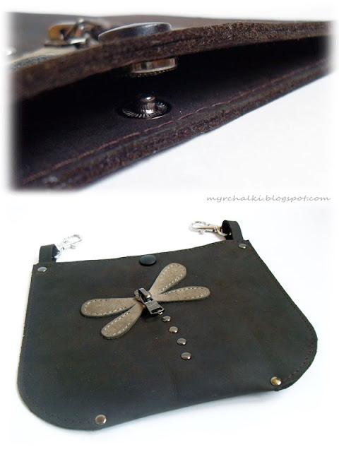 сумочка-карман из кожи своими руками