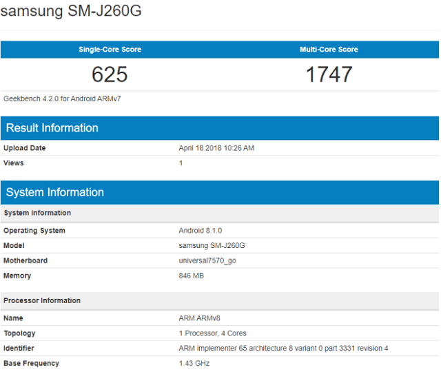 Samsung-galaxy-j2-core-sm-j260