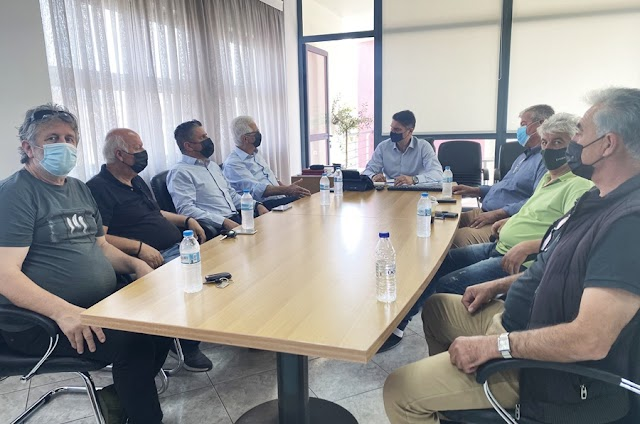 Εθιμοτυπική επίσκεψη στον Δήμαρχο Μεσσήνης  Γ. Αθανασόπουλο πραγματοποίησε  ο πρόεδρος της Συκικής Παναγιώτης Παπαγεωργίου