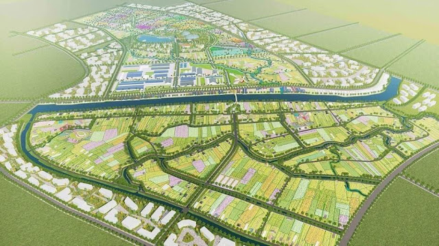 Điểm nhấn khu làng hoa mới phía Nam là khu vực hồ trung tâm