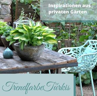 Trendfarbe Türkis im Garten