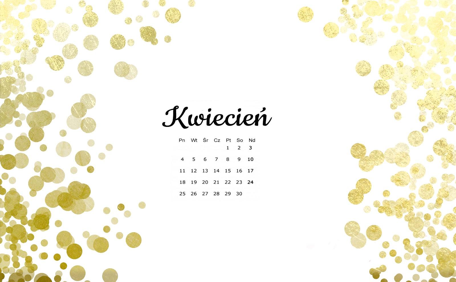 Black Gold Wallpaper Fresja Darmowe Tapety Na Kwiecień Z Kalendarzem