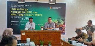 Kepala BPS Provinsi Jambi Secara Resmi Membuka Gelar Sosialisasi Pemutakhiran Diagram Timbang IHK Dan NTP.