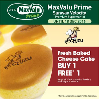 Mr. Chizu's Fresh Baked Cheese Cake Buy 1 Free 1 Promo