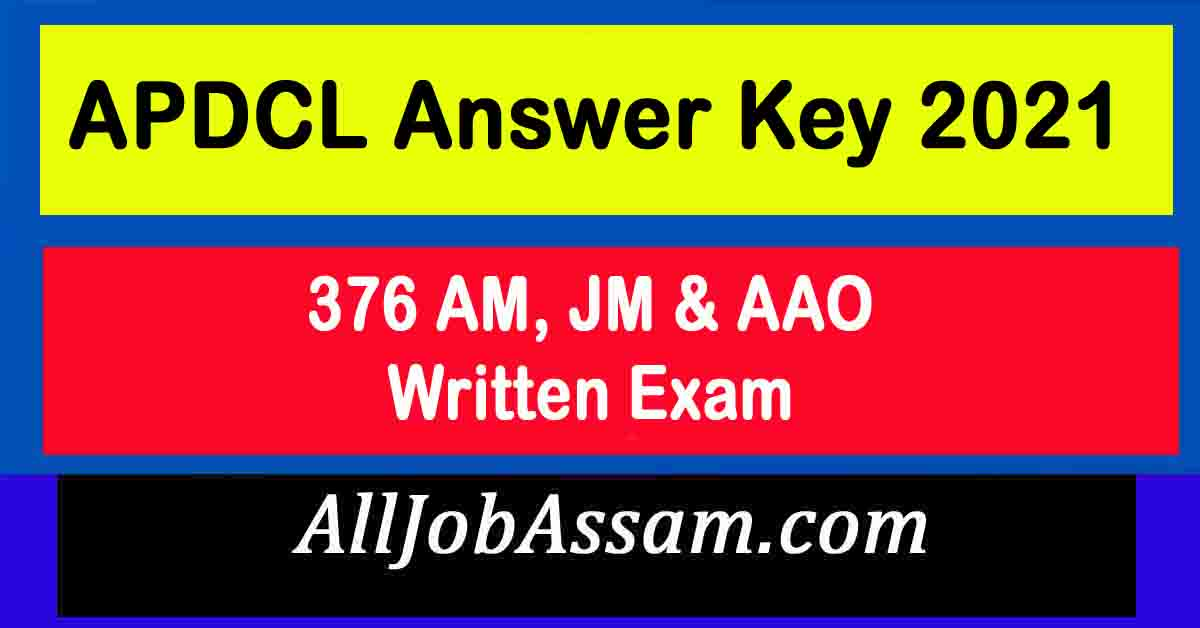 APDCL Answer Key 2021