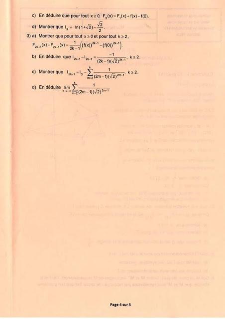 Bac Tunisie 2020 mathématiques