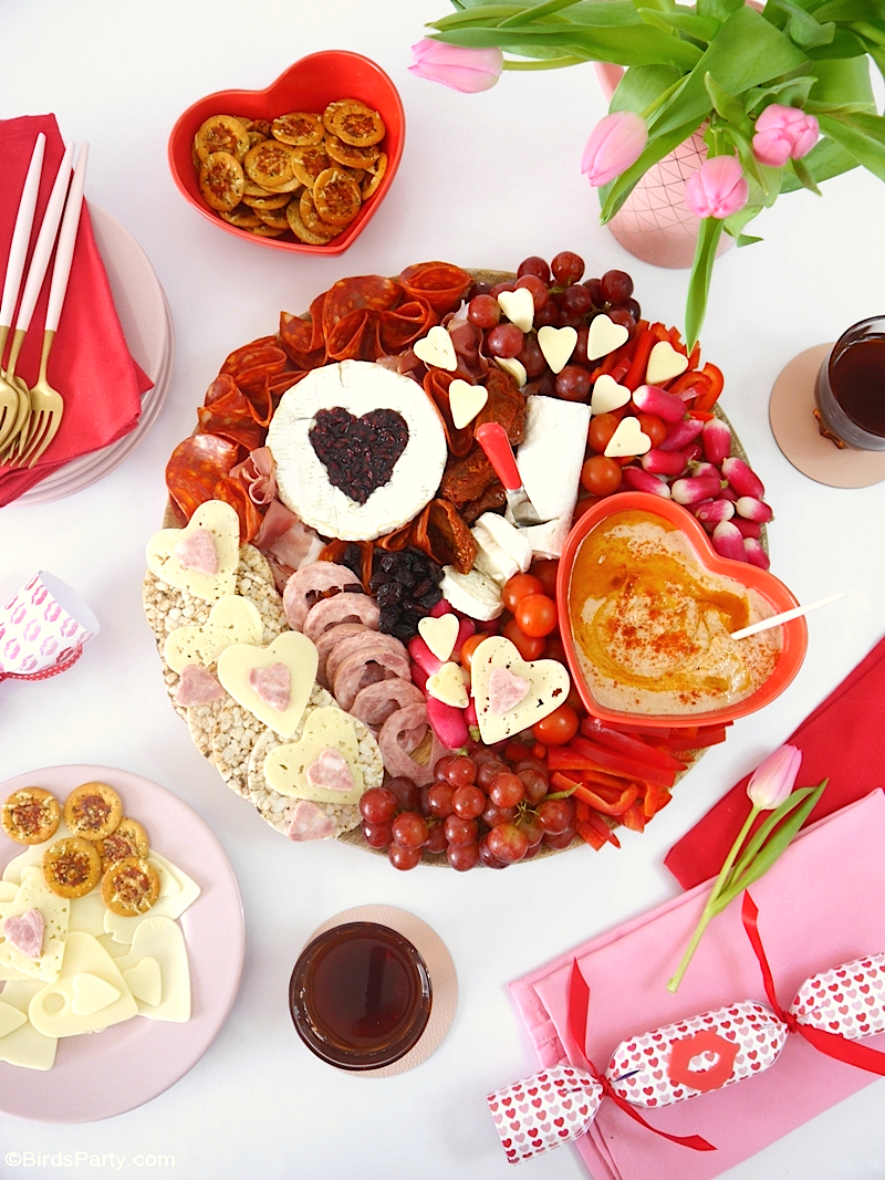 Plateau de Fromages et de Charcuteries pour la Saint-Valentin