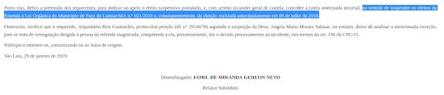TJMA invalida eleição de Marinho do Paço feita com base em Emenda falsa