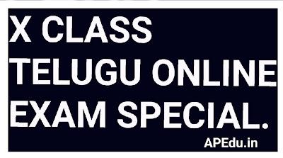 10th Class Telugu online Exam special.
