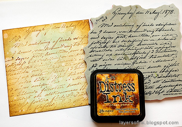 Layers of ink - Mandala Flower Card Tutorial by Anna-Karin Evaldsson. Stamp with SSS Old Letter Background.