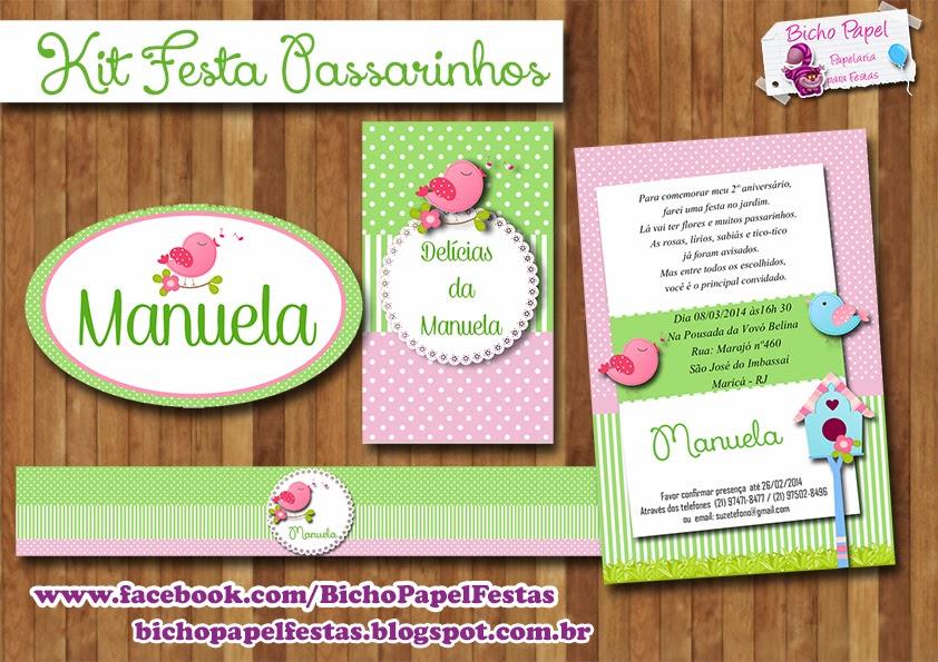 Kit Festa Passarinhos