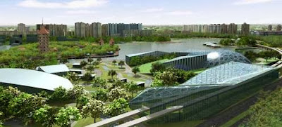 Jurong West Lakeside - New world class science centre integrated with Chinese Garden MRT