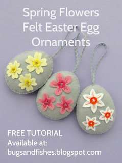 Wool felt Easter egg ornament tutorial