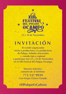 participar en el festival delpulque ocampo 2019