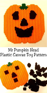 The kids will love this and it's super simple to make! We can bring Pumpkin Season to our favorite Mr Potato Head face changing toy with this free plastic canvas pattern.  What a great way to keep the kids busy and quiet for a few minutes this fall.