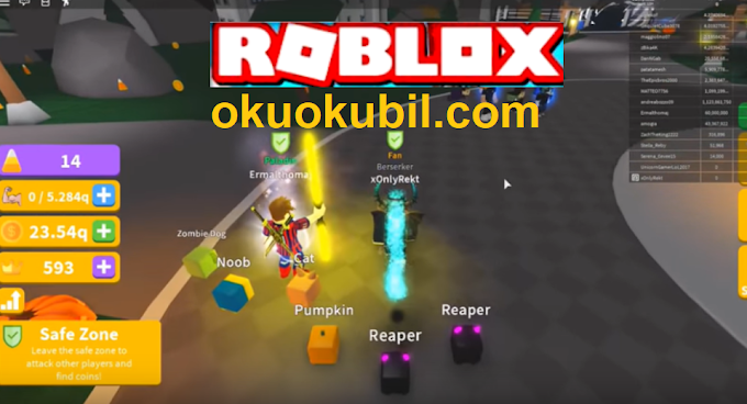 Roblox Saber Simulator Efsane PARA Hilesi BAN YOK Otomatik Kasılma