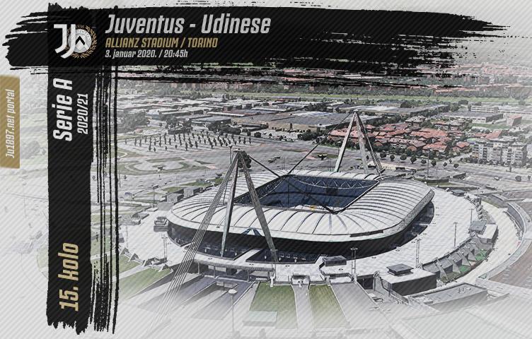 Serie A 2020/21 / 15. kolo / Juventus - Udinese, nedelja, 20:45h