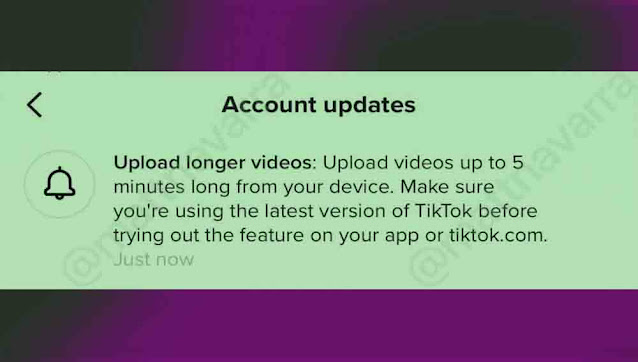 Tiktok يسمح برفع مقاطع فيديو مدتها 5 دقائق أو أكثر كيف تقوم بذلك ؟