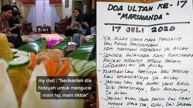 Viral Video Ayah Berdoa agar Anaknya Dapat Hidayah Mengurangi Main TikTok, Begini Cerita di Baliknya