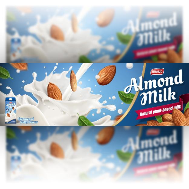 milk advertising poster free vector, milk advertising banner free vector file
