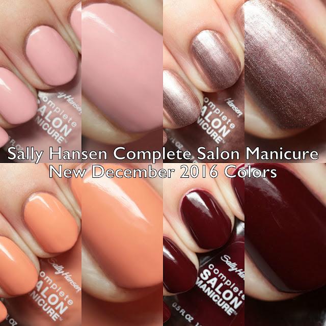 Sally Hansen Complete Salon Manicure New Winter 2016 Colors